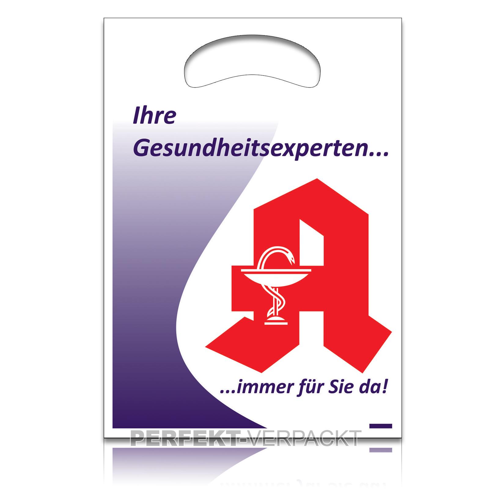 """2000 Tragetaschen """"Gesundheitsexperten"""" 20x28x3cm"""