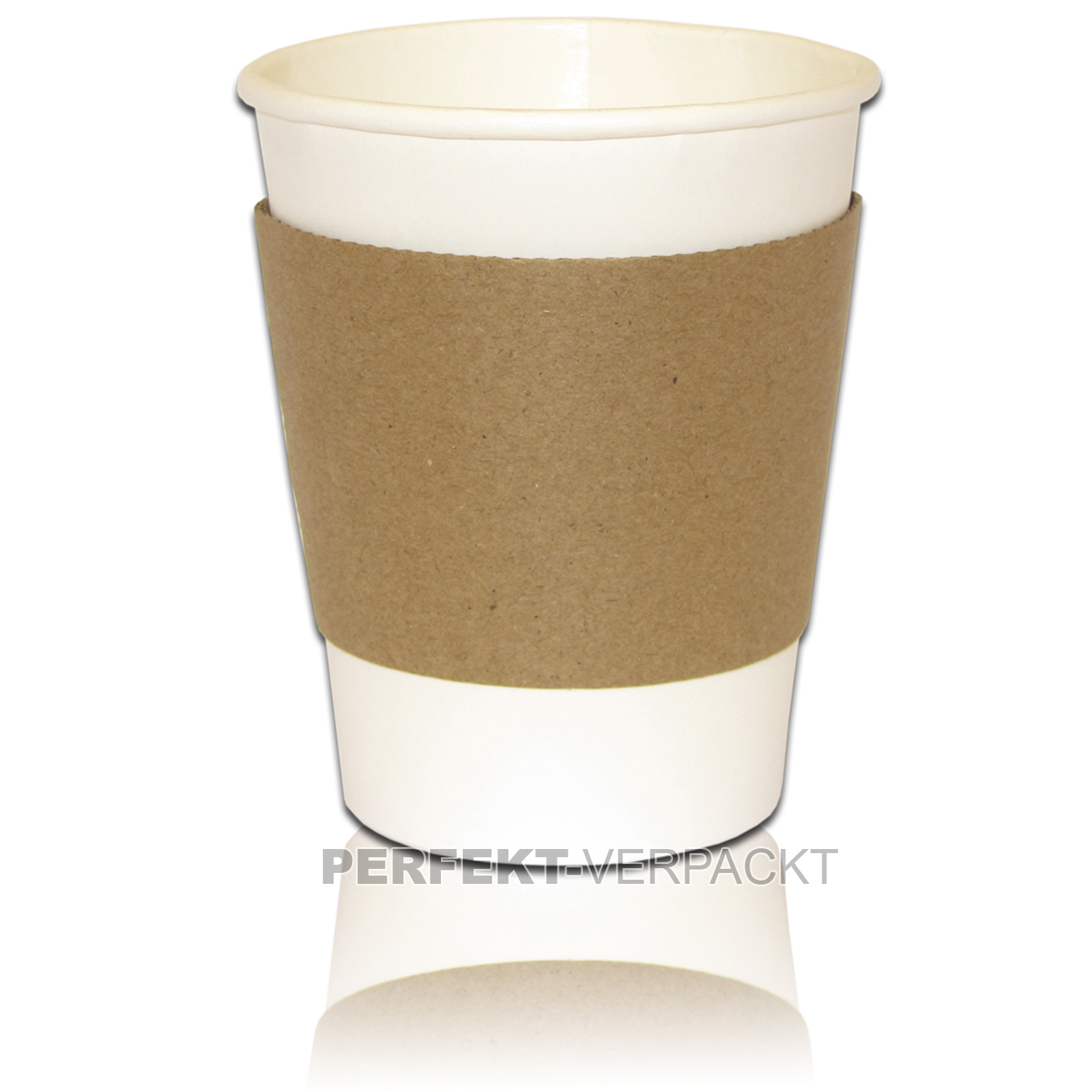 1.000 Bechermanschetten 200 ml + 250ml Coffee Becher