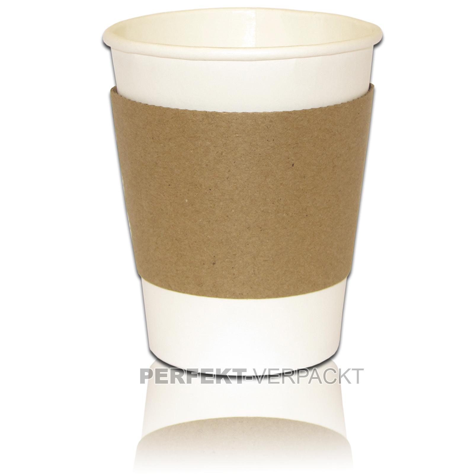1.000 Bechermanschetten 200 ml + 250ml Coffee Becher