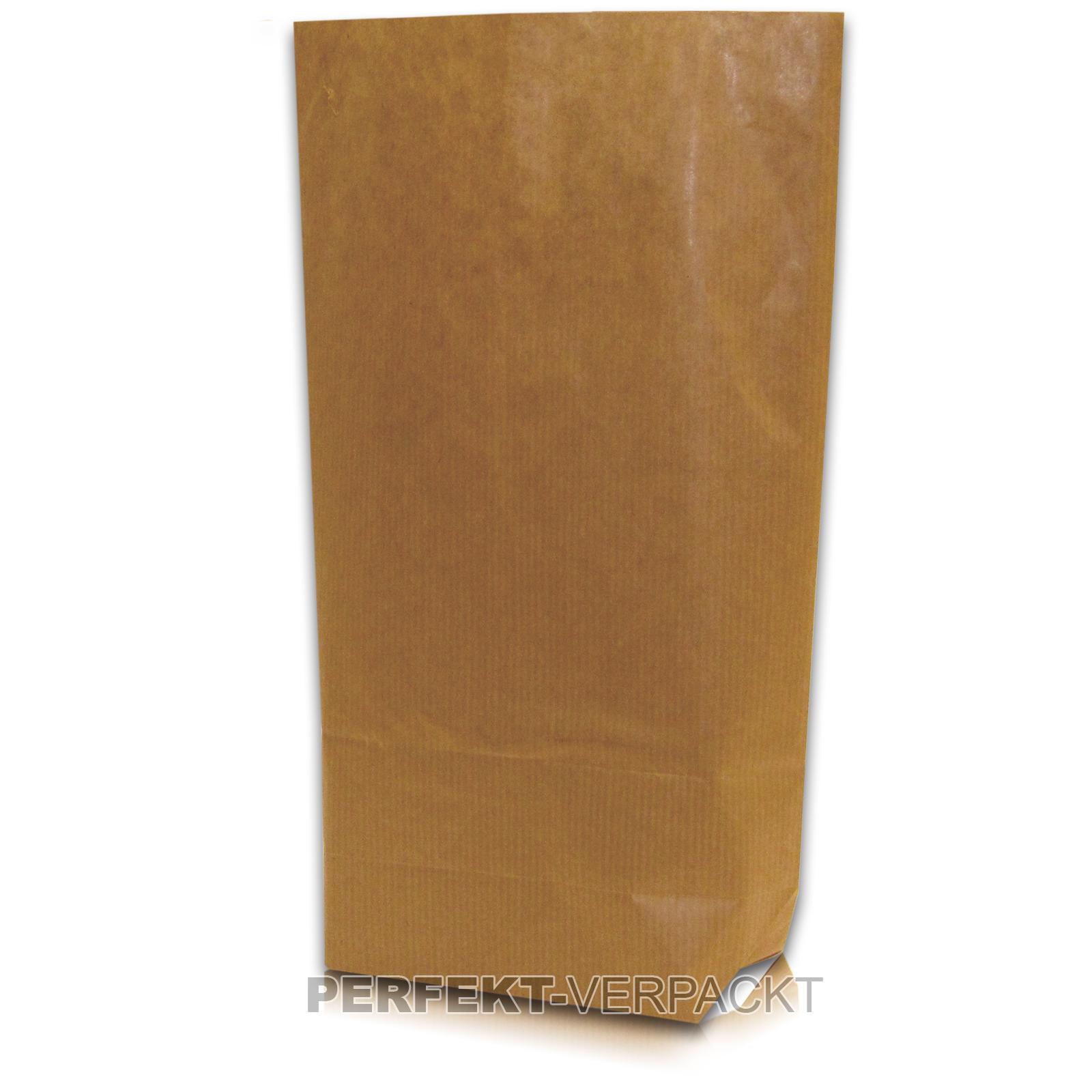 500 Bodenbeutel 28x45cm  unbedruckt aus braunem Natronmischpapier