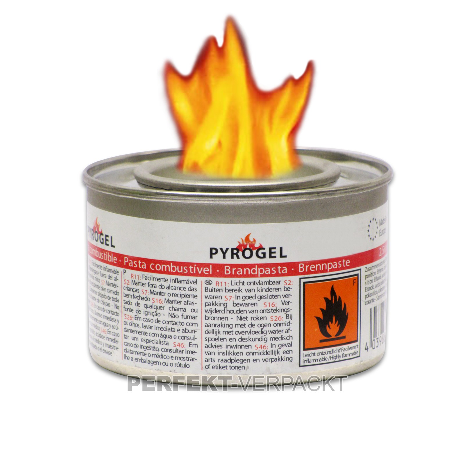48 Dosen Brennpaste 210 ml Bio-Ethanol / Brenndauer 2,5 - 3 Std.