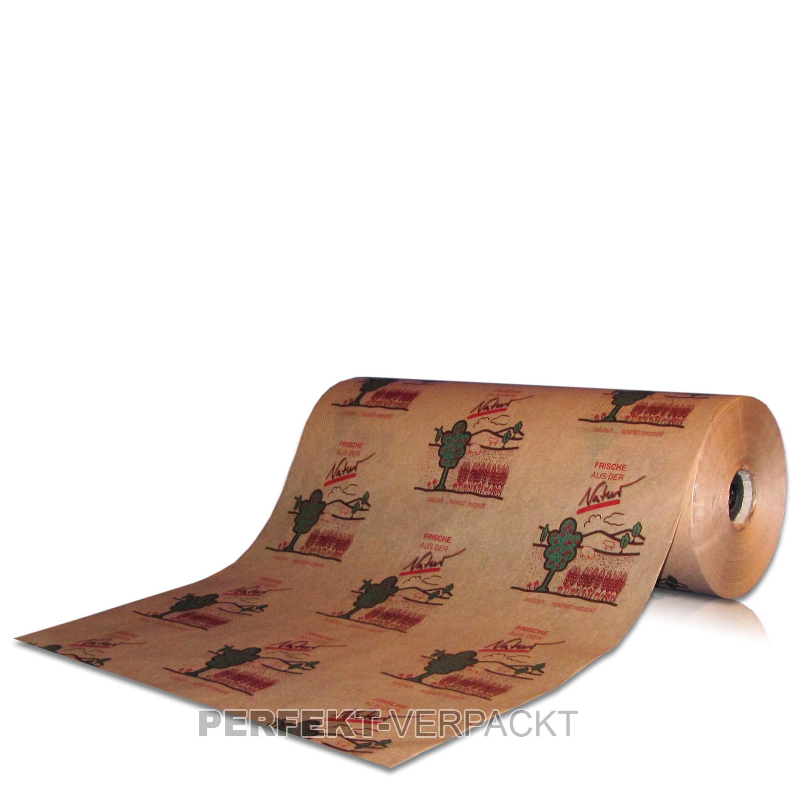 """10 kg Einschlagpapier braun 50cm / 35g/m² """"Frische aus der Natur"""""""