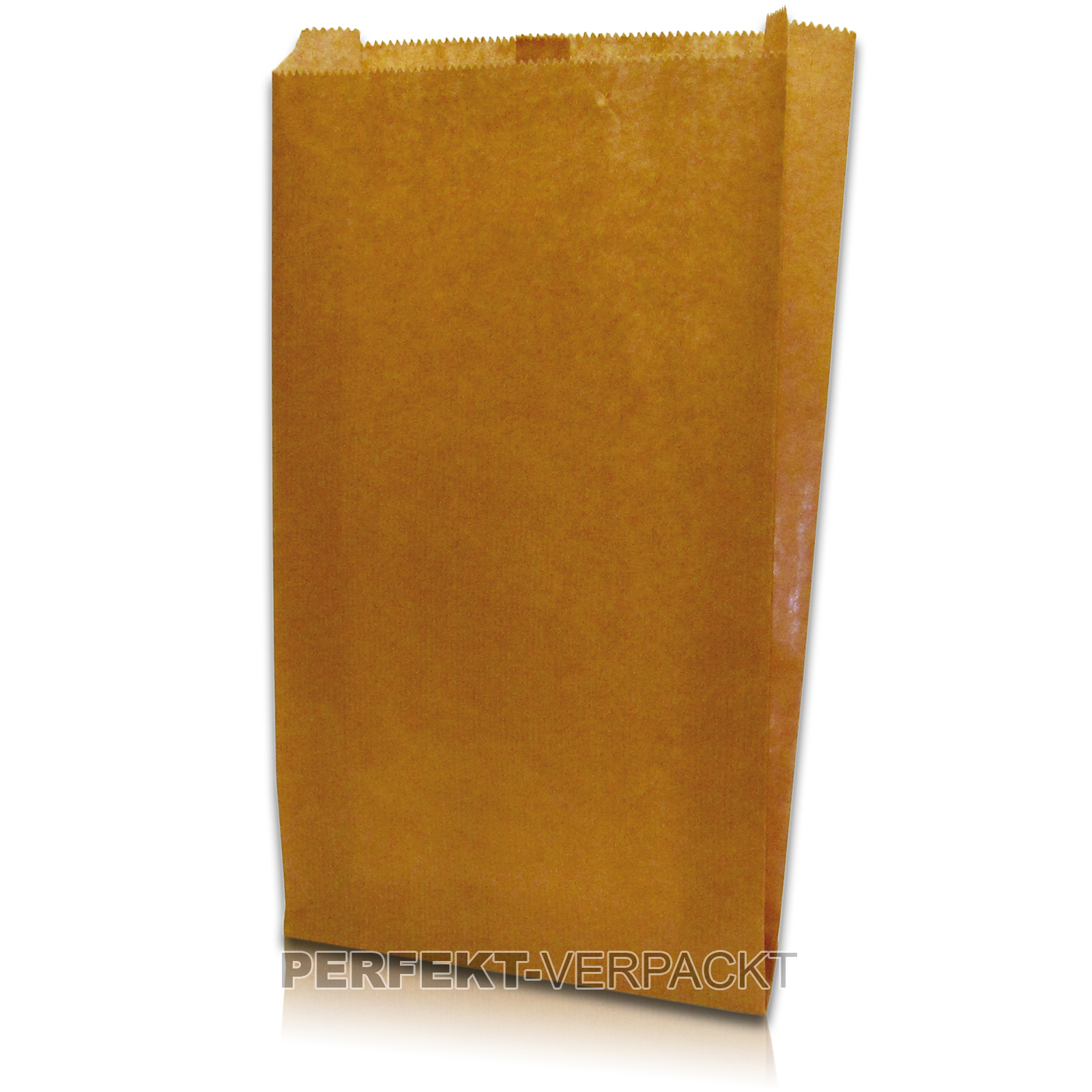 1.000 Faltenbeutel 17x5x28cm #56 aus braunem Kraftpapier unbedruckt