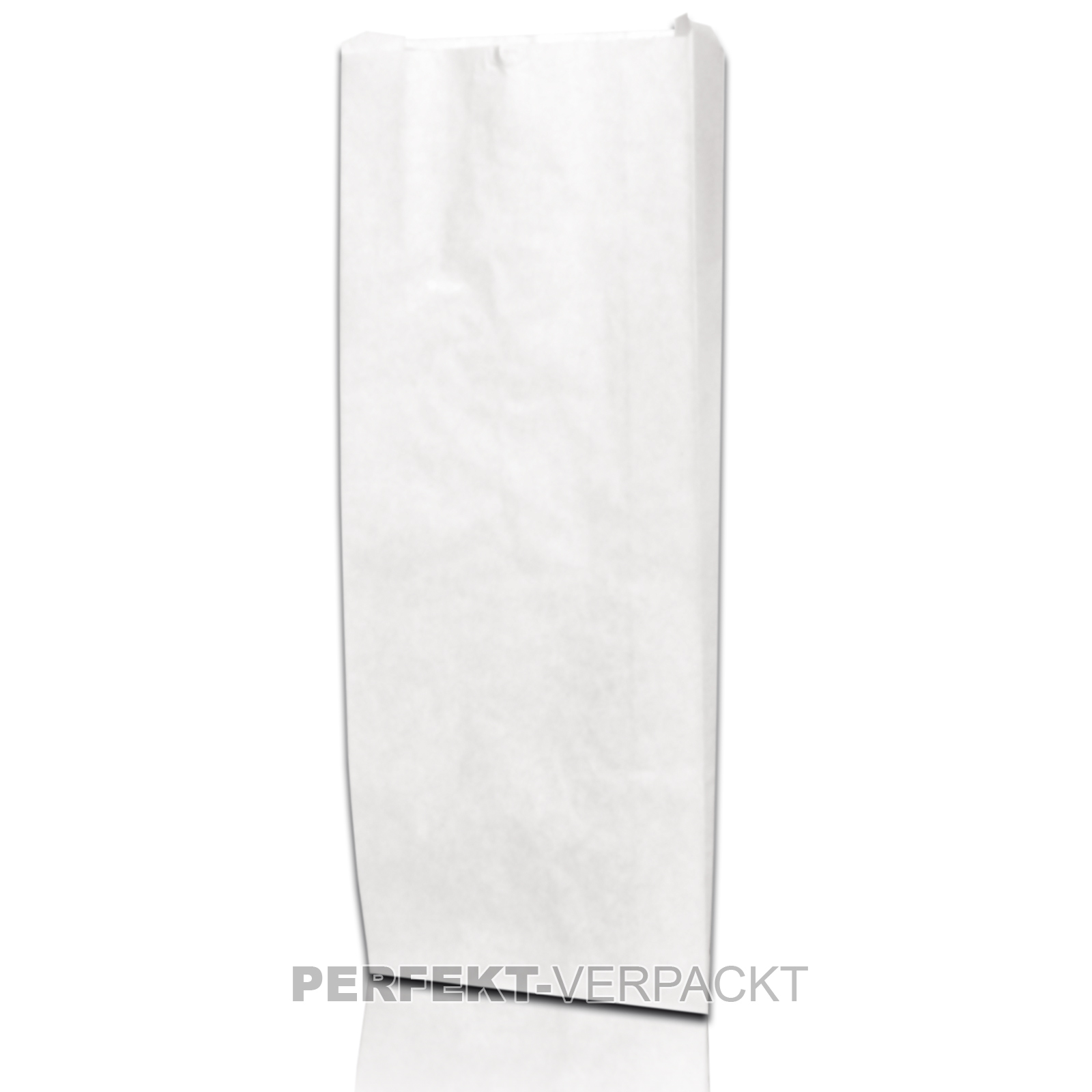 1.000 Faltenbeutel 12x5x23cm #418  weiß unbedruckt Cellulose