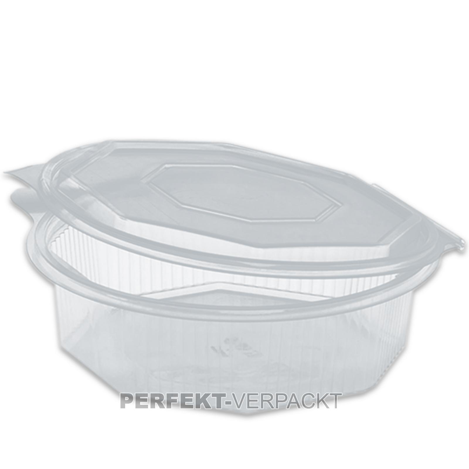 200 salatschalen mit deckel 750ml 8 eckig haushaltsboxen klappschalen salatbox ebay. Black Bedroom Furniture Sets. Home Design Ideas