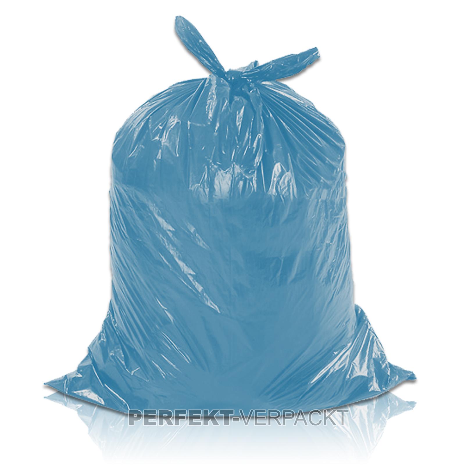 250 Müllsäcke blau 70 Liter 58x100cm LDPE
