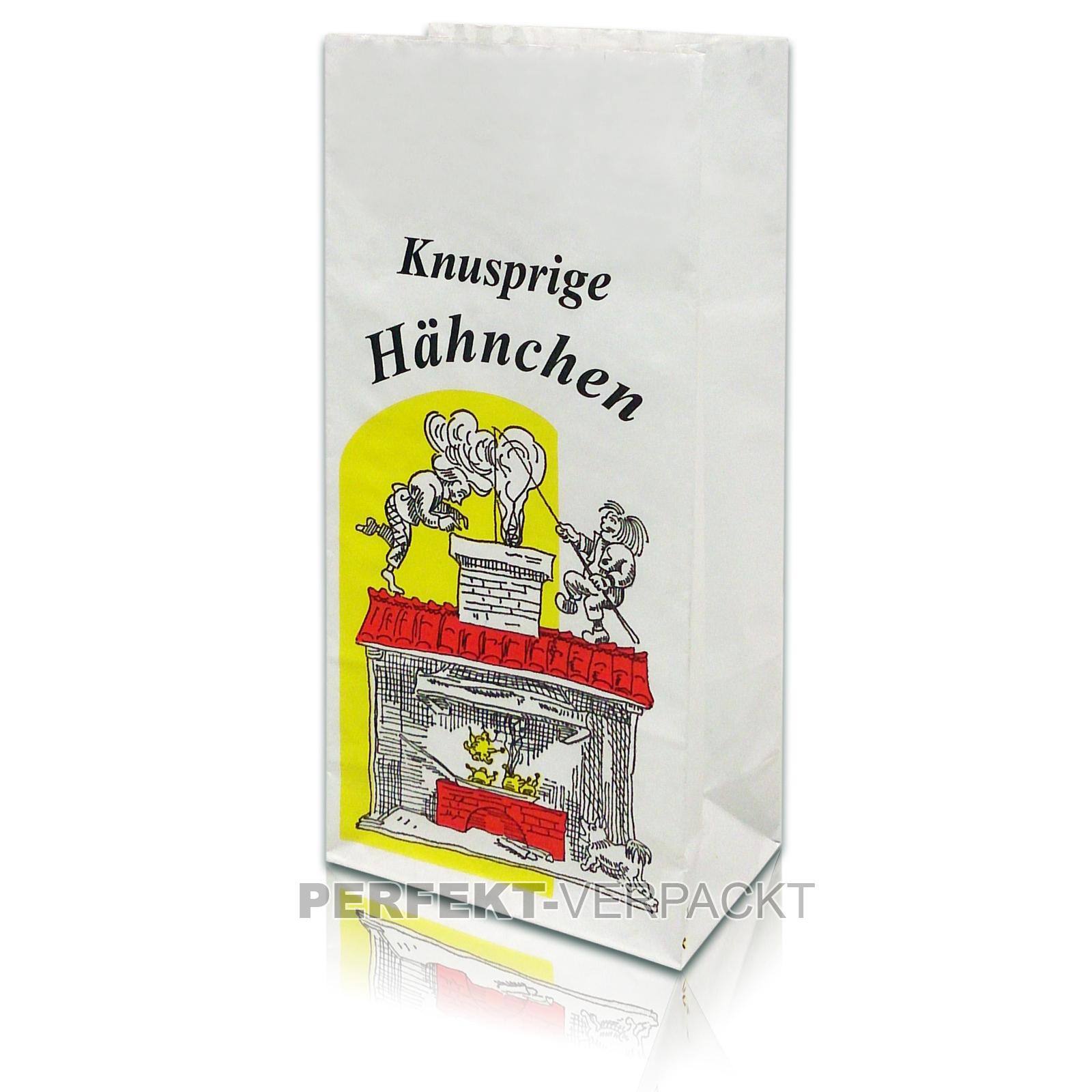 """1000 Warmhaltebeutel 1/1 Hähnchen 3-lagig """"Knusprige Hähnchen"""""""